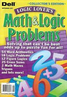 Dell Magazine Math And Logic Problems Logic Mazes Figure Logic Trigons 2011