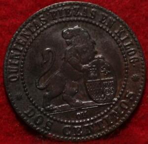 1870 Spain 2 Centimos Foreign Coin