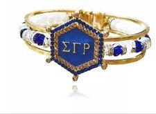 Sigma Gamma Rho bracelet 1922 sorority greek letter poodle SGRho royal blue gold