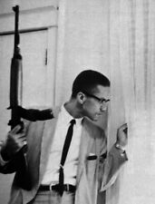MALCOLM X GLOSSY POSTER PICTURE PHOTO PRINT CIVIL RIGHTS BLACK POWER RIFLE ISLAM
