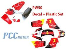 3M RED GRAPHICS DECAL PLASTIC SEAT KIT YAMAHA PW50 PW 9 DE63+