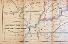 Charles ELLET Jr.  The HEMPFIELD RAIL ROAD & Bonds ..1st  1852 Large Folding MAP