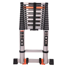 Telescopic Ladder Extension 18.5 FT Aluminum Foldable Telescoping Ladders 330LB