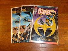 BATMAN #500, 500 and bagged #500, 3 books