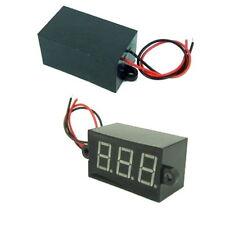 Waterproof 4.5V-30V Emerald RED LED Mini Digital Volt Meter No need Power #358
