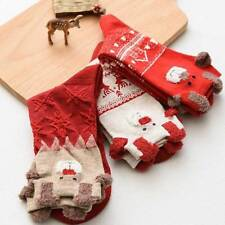 1 Pair Fashion Thick Women Christmas Elk Deer Design Casual Knit Wool Socks
