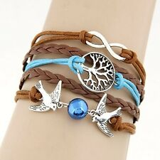 Braided Leather Bracelet Infinity Tree of Life Doves (Buy 2, Get 1 At 50% Off)