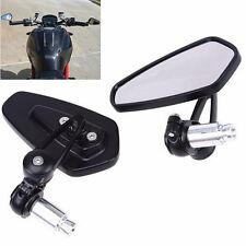 "7/8"" Handle Bar End Motorcycle Rearview Mirrors Rear View Mirror For Kawasaki BK"
