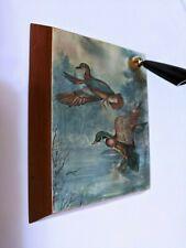 Vintage desktop pen holder stand Ava Freeman Ducks taking flight Drawing