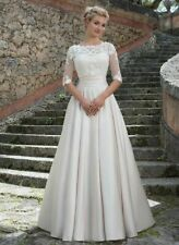 d019New White/ivory lace  Wedding dress Bridal Gown custom size2 4 6 8 10++