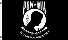 3x5 Ft Pow Mia Flag Us American You are Not Forgotten Veteran Flag - Nylon f