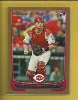Devin Mesoraco RC 2012 Bowman GOLD Parallel Rookie Card # 214 Reds Mets Baseball
