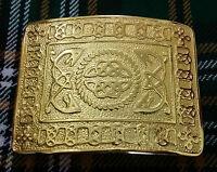 Men's Celtic Knot Kilt Belt Buckle Gold Plated/Scottish Kilt Belt Buckles Celtic