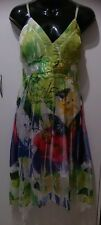Ladies size 10 beautiful bright pleated dress