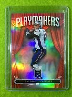 TOM BRADY REFRACTOR 2019 PRIZM CARD JERSEY #12 PATRIOTS SP - 2019 Donruss Elite