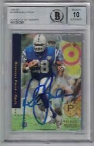 Marshall Faulk Signed Colts 1994 Upper Deck SP Trading Card BAS 10 Slab 29571