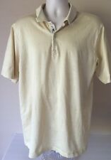 Bobby Jones Butter Yellow Golf Shirt La Quinta, California sz Xl Italy