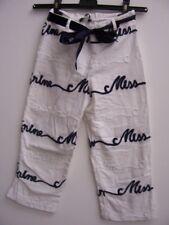 Miss Blumarine jeans pantaloni bianchi bianco blu 10 A bimba bambina