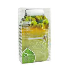3 x VOESH Pedicure Spa Set 4-in-1 Olive Salt Scrub Masque Massage Lotion