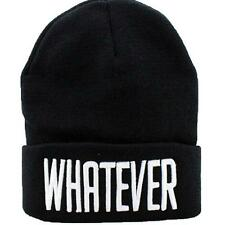Creative Fashion Women Men Hip Cool Trendy WHATEVER Letters Beanie Hat Cap Z