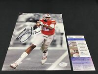CARDALE JONES OHIO STATE BUCKEYES SIGNED 8X10 PHOTO JSA COA NATIONAL CHAMPS!