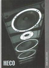 HECO Gesamtprogramm HOME AUDIO 2009 Katalog Statement Celan XT Aleva Metas Victa