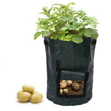 Potato Grow Planter PE Container Bag Root Plant Growing Pot Side Window Boxes~.