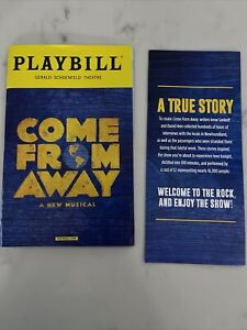 COME FROM AWAY Broadway Musical Playbill & Flyer November 2017