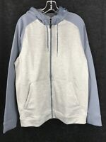 ADIDAS Men's Light Gray/Onix CLIMAWARM Training Full Zip Hoodie/Sweatshirt