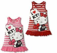 Hello Kitty Vestido de Dibujos Animados Bebe Ninas Impresion Verano Ropa...