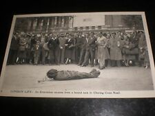 Old postcard escapologist Charing Cross Road Charles Skilton London Life c1950