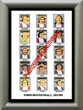 CARLISLE UNITED - 1974-75 - REPRO STICKERS A3 POSTER PRINT