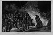 HOSTILE BIG FOOT SIOUX INDIAN GHOST DANCE FEATHER TEEPEE FIRE HORSES HISTORY