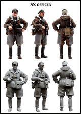 1/35 WW2 resin model kit Figure allemand Waffen SS OFFICIER en hiver
