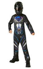 Kids Boys Childs Power Ranger Black Fancy Dress Costume Outfit Childrens 7-8 Yrs