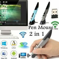 Portable 2.4G Pen Mouse Wireless Optical Mouse for Laptop Tablet 4 Keys Mice