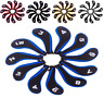 11pcs Golf Clubs Iron Head Covers Headcovers with Zipper Long Neck For Callaway