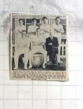 1969 Paul Cricket Club, Mr L North, Lampshire, Sawle, Osborne, Meneer, Noy,