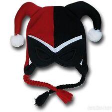 New Batman Harley Quinn Mask Jester Peruvian Beanie Cap Knit Hat