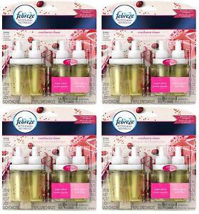 8 Febreze NOTICEables Dual Scented Oil Refills Cranberry Cheer (Total 4 Packs)