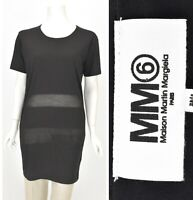 Womens MM6 Maison Martin Margiela Oversized T-Shirt Dress Black Shift Size S