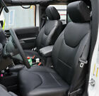 Jeep Wrangler Jk 2013-2018 4doors Black S.leather Frontrear Custom Seat Covers