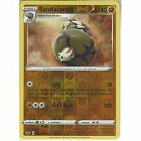 109/202 Sandaconda | Rare Reverse Holo Card Pokemon Sword and Shield (Base Set)