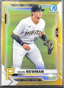 2021 Bowman Chrome True Gold 27/50 Kevin Newman - Pittsburgh Pirates #65