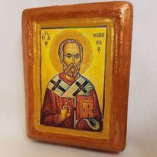 Saint Nicholas Nikolaos Agios Nikolas Rare Byzantine Greek Orthodox Icon Art