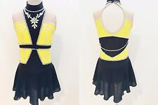 BEAUTIFUL BRAND NEW FIGURE SKATING DRESS, SIZE GIRLS MEDIUM