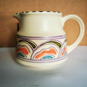 Vintage Honiton Pottery Jug, Eastern Scroll Pattern, Rare Shape