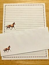 Horses Stationery Set With 12 Sheets 6 Envelopes - Lined Stationary