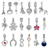 Authentic 925 Sterling Silver Charms Dangle A fit European Charms Beads Bracelet
