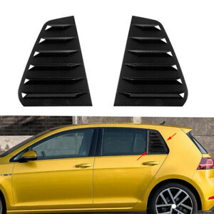 Fit for VW Golf MK7 MK7.5 GTI R Side Air Vent Carbon Style Window Louver Cover